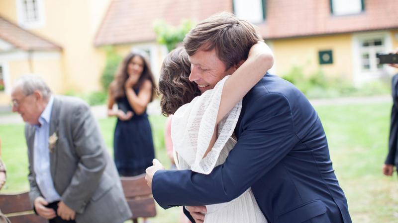 Probuď labuť, svatba, nevěsta a ženich