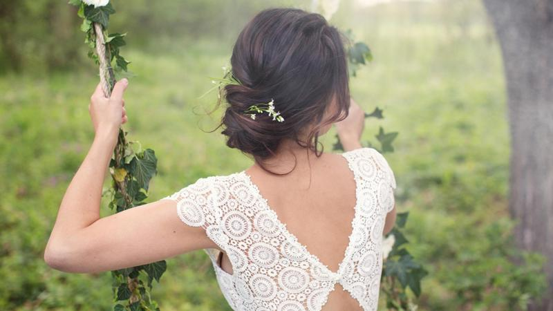 Probuď labuť, nevěsta, svatební účes