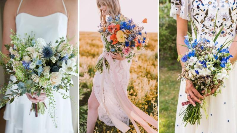 Svatební kytice z lučního kvítí je trendy.